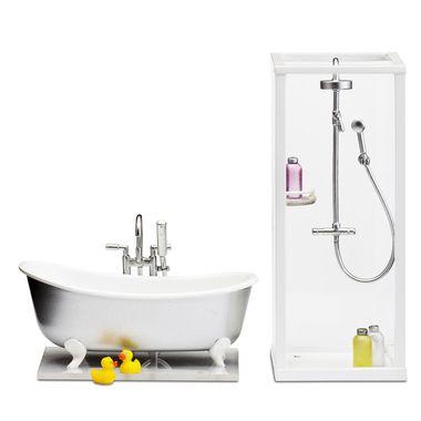 EDILIO PARODI Smaland Showever and Bath set bagno casa bambole ...