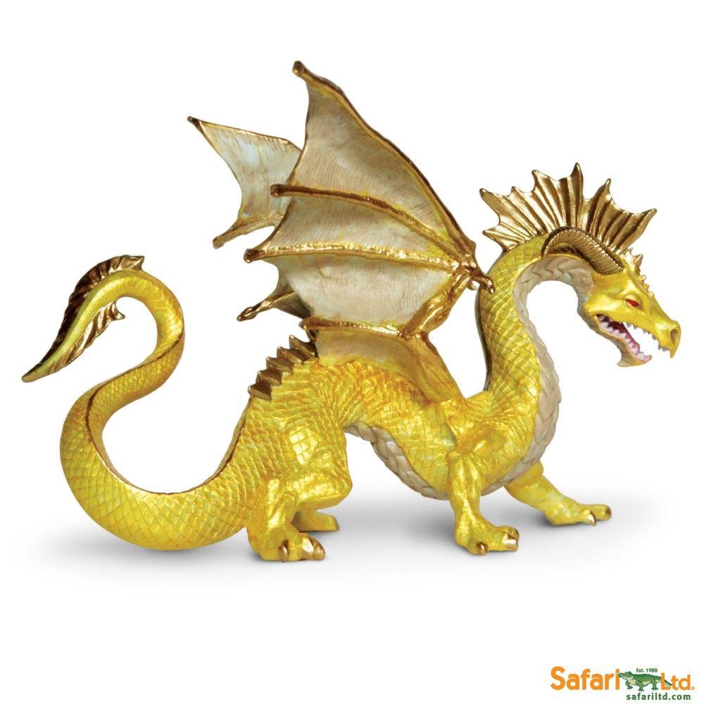 Super EDILIO PARODI Drago Dorato draghi giocattolo di plastica  BX39